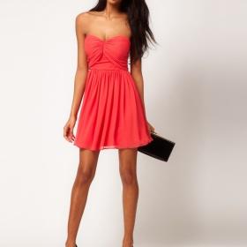 Korálové šaty ASOS - foto č. 1