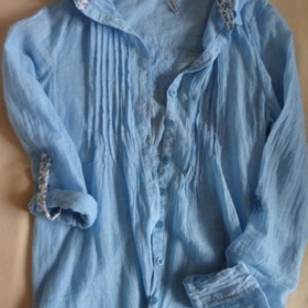 Modrá košile fishbone - foto č. 1
