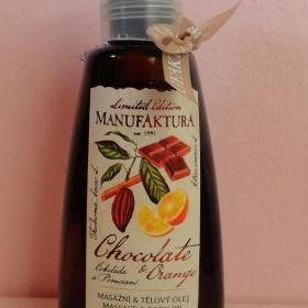 100 % rostlinný tělový a masážní olej s vůní čokolády a pomeranče Manufaktura - foto č. 1
