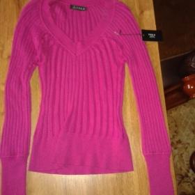 Fialový svetr neznačkový - foto č. 1