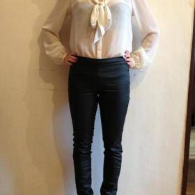 Černá kožené kalhoty Terranova - foto č. 1