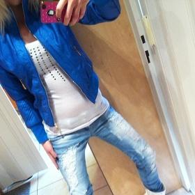 Ko�enkov�  modr� bunda nezna�kov� - foto �. 1