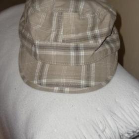 Béžová plátěná kšiltovka neznačková - foto č. 1