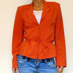 Oranžový kabátek Eliot Fashion - foto č. 1