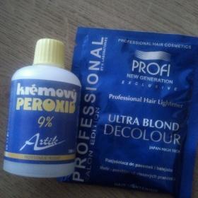 Ultra blond melír a peroxid 9% Professional - foto č. 1