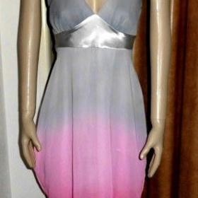 Růžovošedé šifonové šaty Miso - foto č. 1