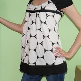Černo - bílý atypický top (tunika) Promod - foto č. 1