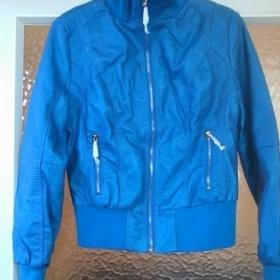 Modrá koženková bunda Neznačková - foto č. 1