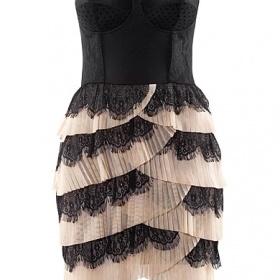 Černo - béžová šaty H&M - foto č. 1