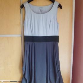 Šedé společenské šaty H&M - foto č. 1
