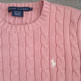 Růžový svetr Ralph Lauren - foto č. 1