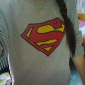 Šedá mikina Superman - foto č. 1