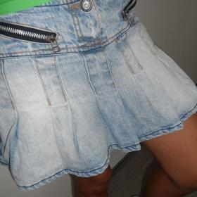 Modrá džínová sukně Fishbone - foto č. 1