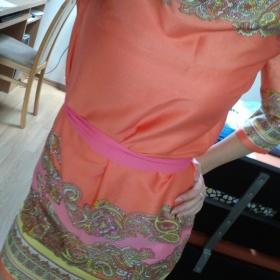 Oranžové šaty H&m - foto č. 1