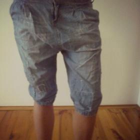 Turecké 3/4 jeans kraťasy Amisu - foto č. 1