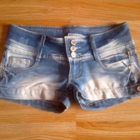 Riflové mini šortky neznačkové - foto č. 1