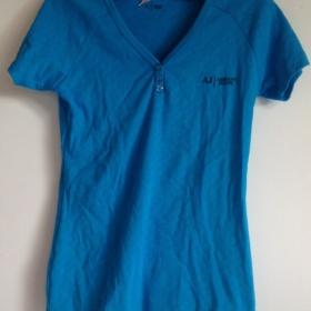 Modré tričko Armani - foto č. 1