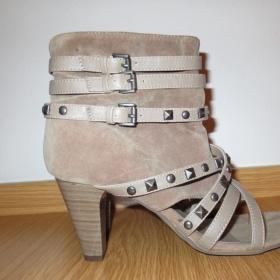 Béžové dámské boty Deichmann - foto č. 1