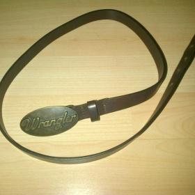 Hnědý kožený pásek Wrangler - foto č. 1