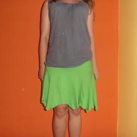 Zelená sukně neznačková - foto č. 1