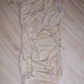 Nude šaty Japan Styl - foto č. 1