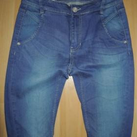 Modr� riflov� har�mky Exe jeans - foto �. 1