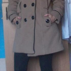 Hnědý - černý  zimní kabát HM - foto č. 1