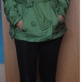 Zelená bunda neznačková - foto č. 1