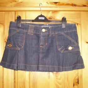 Modrá džínová minisukně Zara - foto č. 1