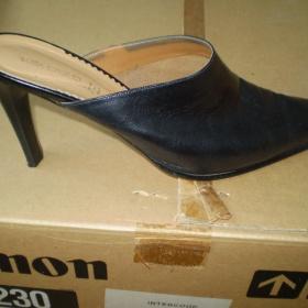 Černé kožené boty Italské - foto č. 1
