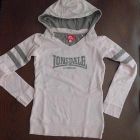 Lososovo - hnědá mikina/tričko Lonsdale - foto č. 1