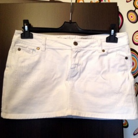 Bílá džínová sukně neznačková - foto č. 1