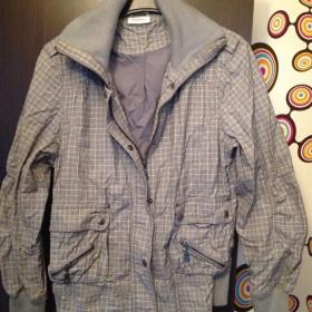 Šedivá bunda s proužky Yessica - foto č. 1