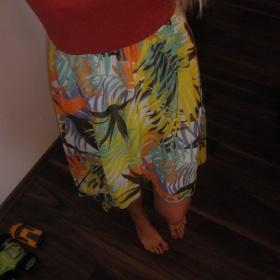 Hnědá / barevné šaty Bonprix - foto č. 1