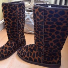 Hnědočerné leopardí válenky Next - foto č. 1