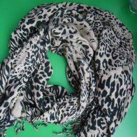 Camel černá leopardí šála Tally weijl - foto č. 1