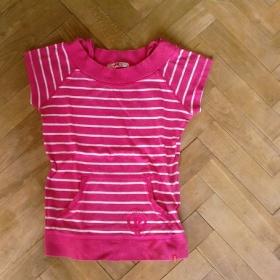 Růžové pruhované tričko Paris Hilton - foto č. 1