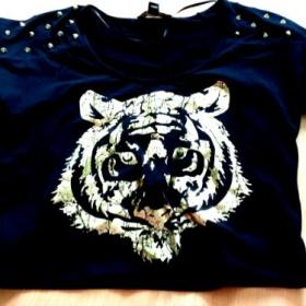 Černé tričko Tygr Tally Weijl - foto č. 1