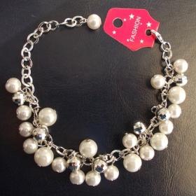 Bílé perly náramek Neznačková - foto č. 1