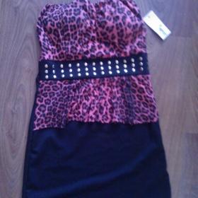 Černo - růžové  šaty Made in Italy - foto č. 1