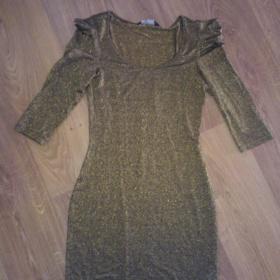Černo - zlaté šaty FF - foto č. 1