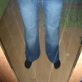 Modré sportovní džíny Zara - foto č. 1