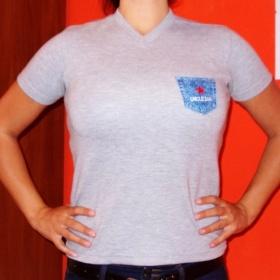 Šedé tričko Uncle Sam - foto č. 1