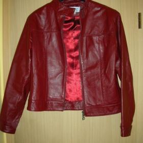Červená kožená bunda Helline - foto č. 1
