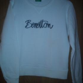 Bílá mikina Benetton - foto č. 1
