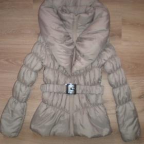 Nude, tělový béžový  kabát, bunda s velkým límcem ? ? - foto č. 1