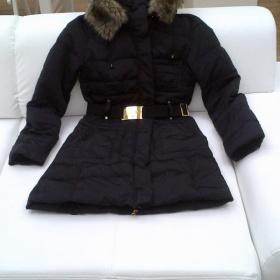 Černý péřový kabát Mango - foto č. 1