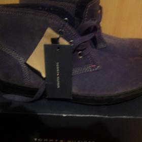 Šedé pánské boty Tommy Hilfiger - foto č. 1