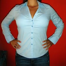 Světle modrá košile Camaieu - foto č. 1