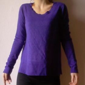 Fialový  svetr New Yorker Amisu - foto č. 1